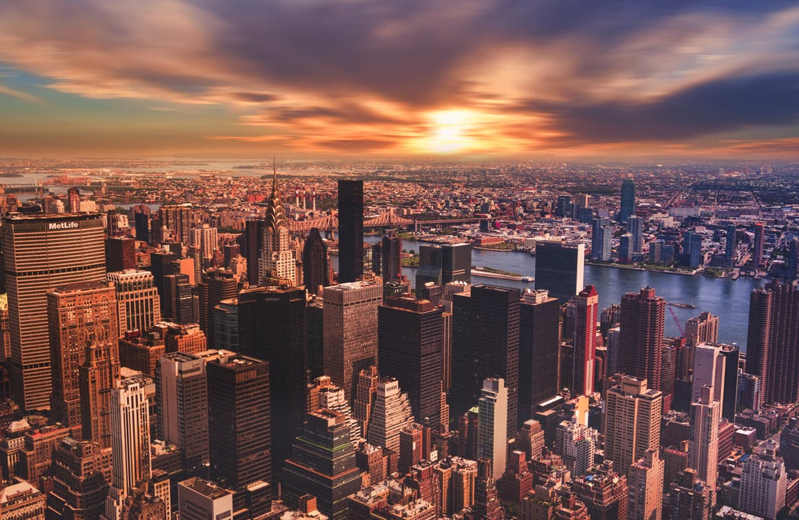 New York City Travel Guide. New York Skyline. Things to do in New York City. Manhattan view.