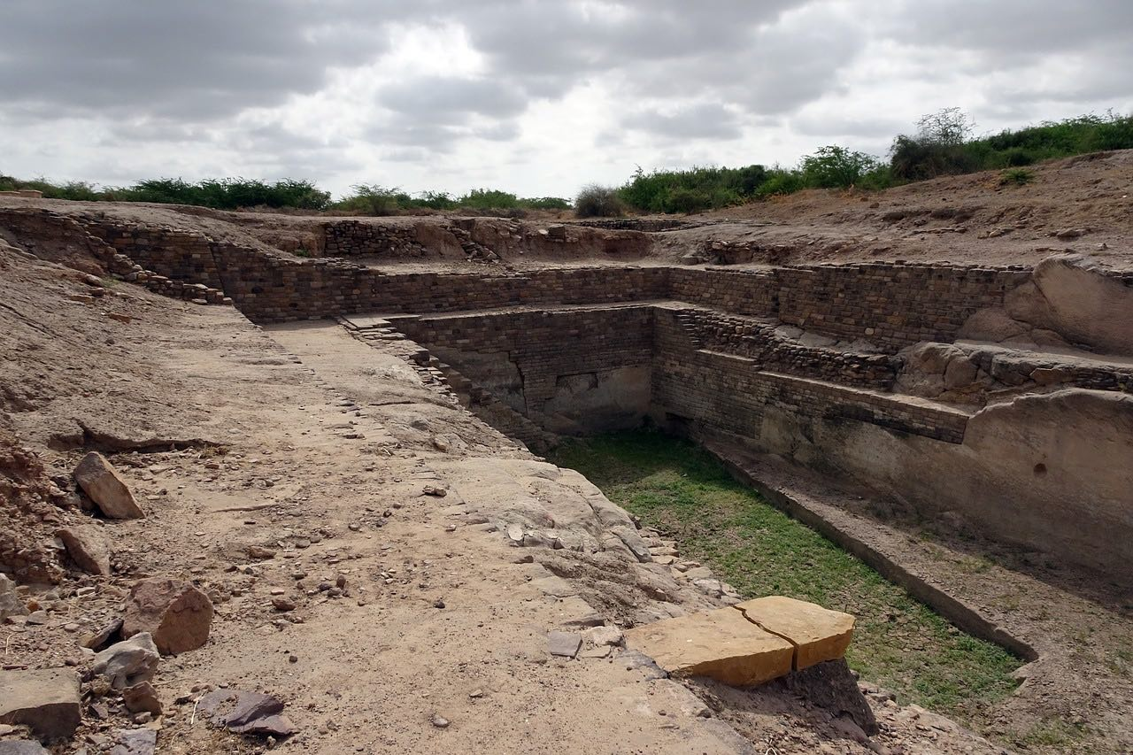 Archaeological Site_Excavation in DholavDholavira_Indus Valley Civilization_India_PD