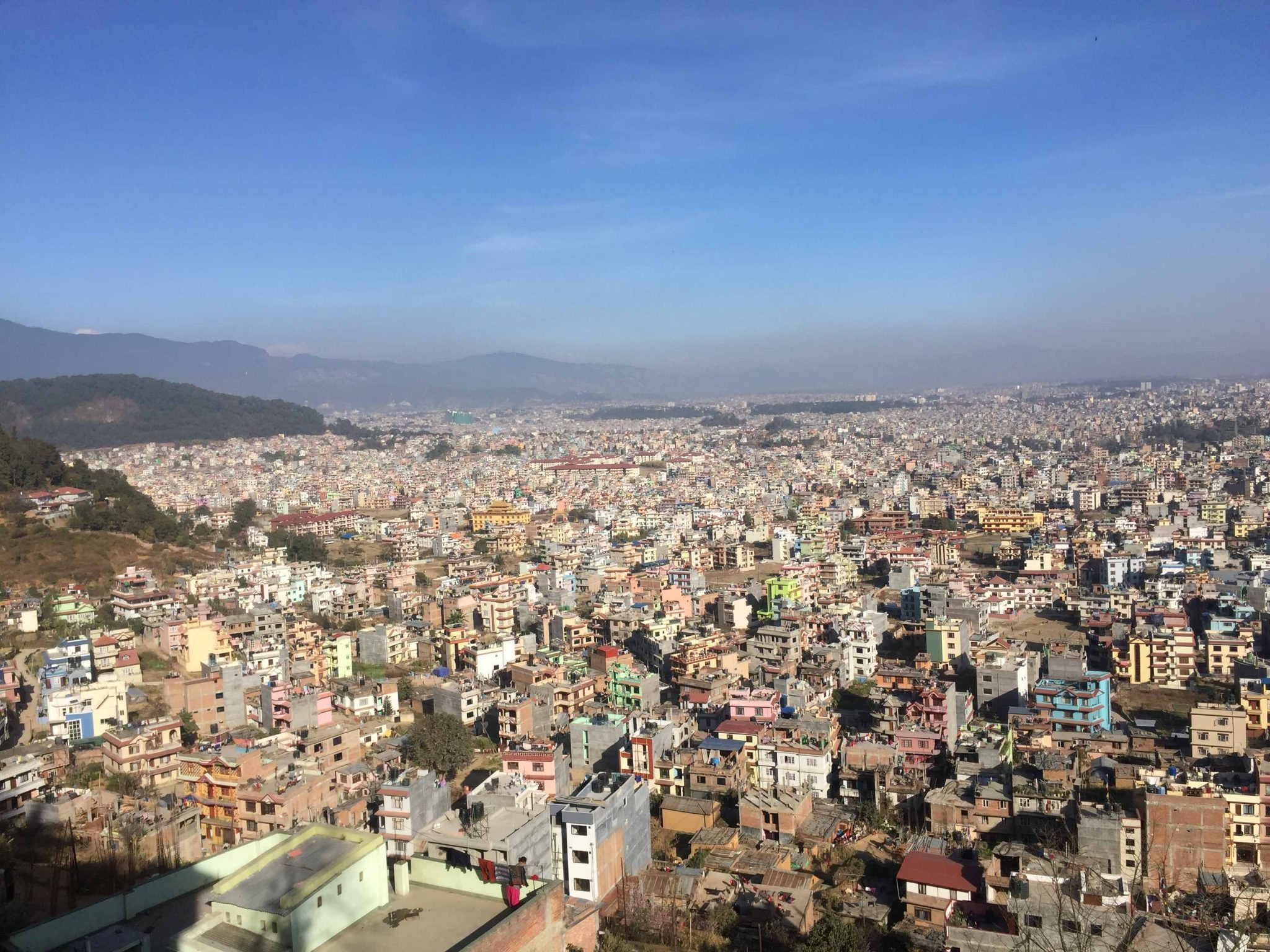 the city of kathmandu. top view of kathmandu valley_AOT