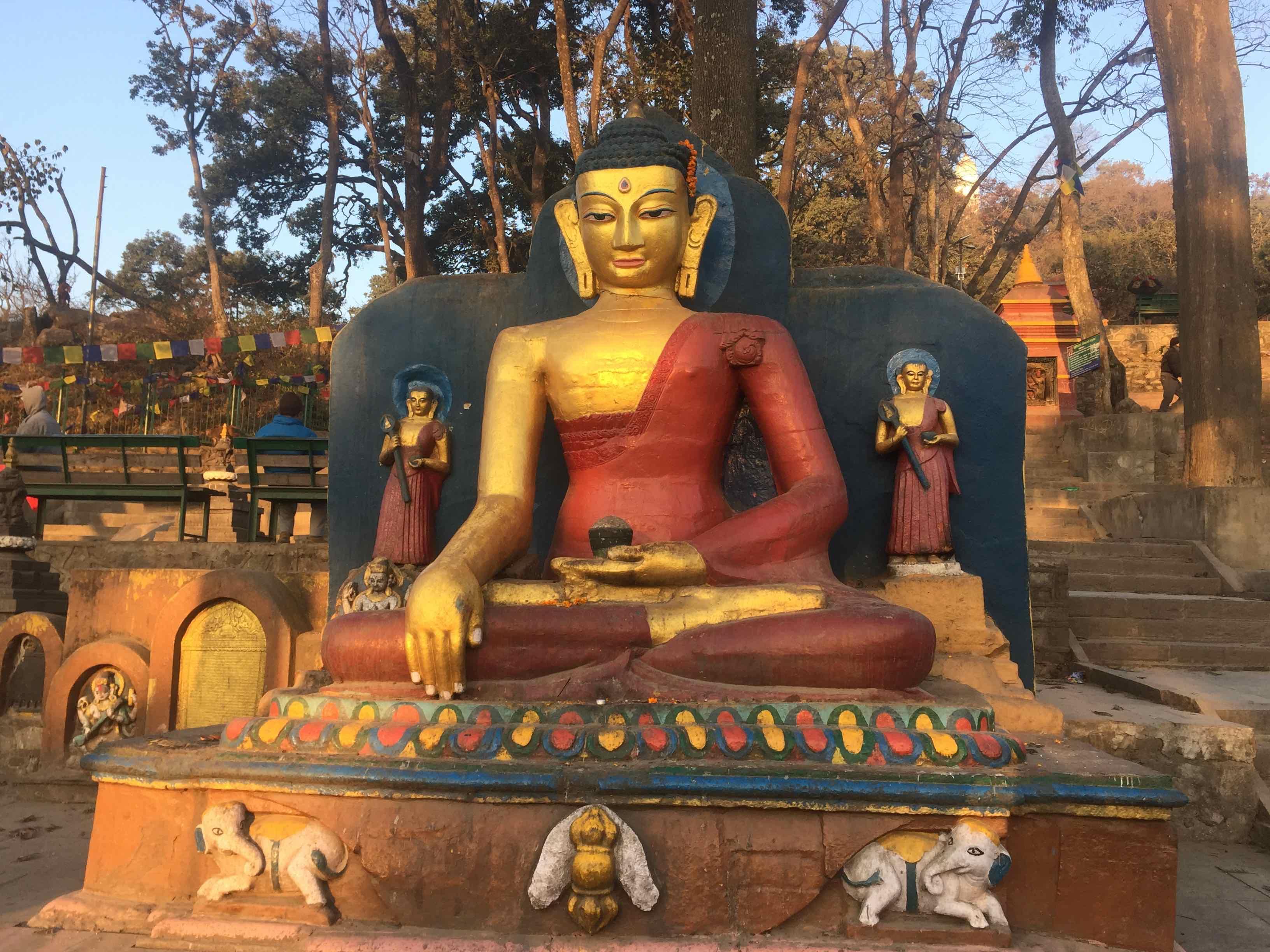 swyambhunath temple. a buddhist temple stupa