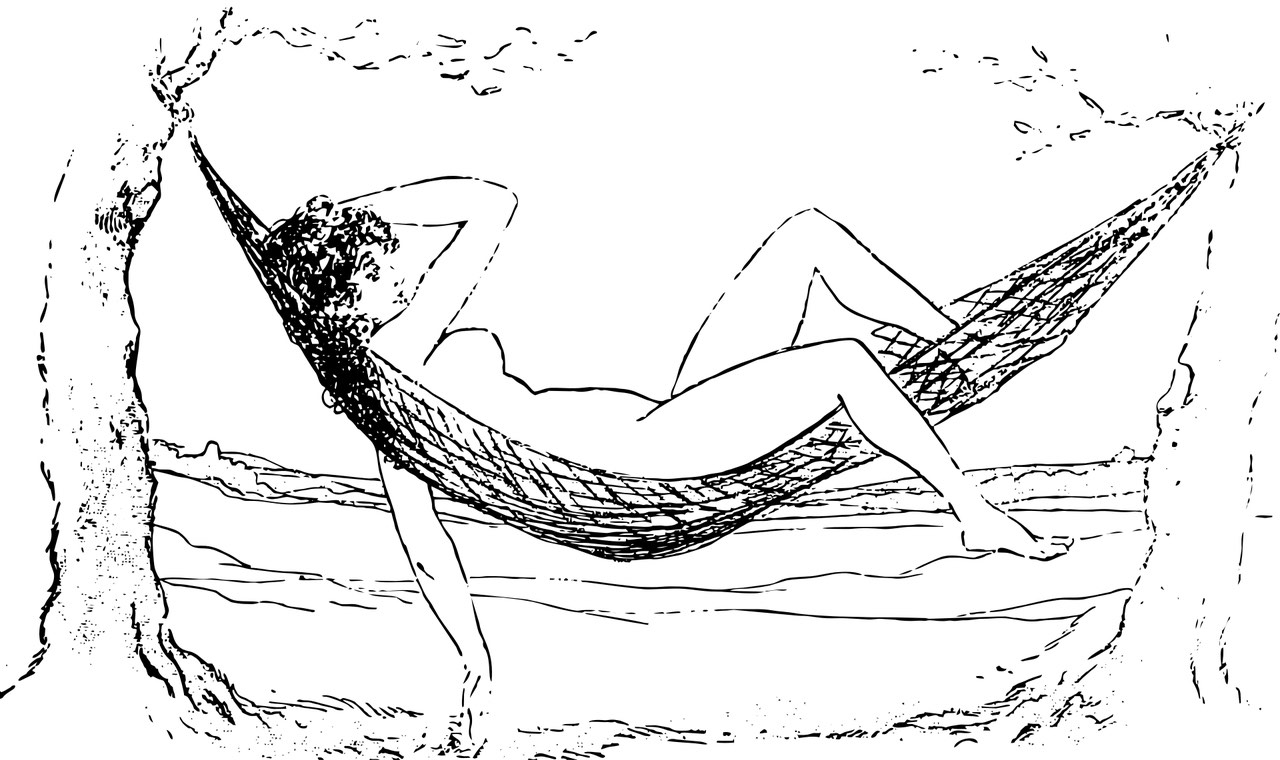 Nude girl relaxing in Hammock_PD