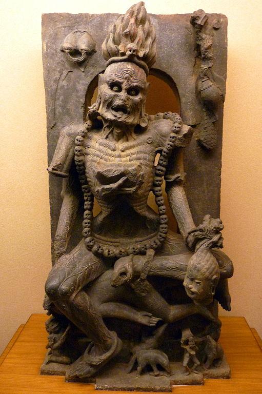 Statue of Goddess Chamunda Devi in Orissa_State_Museum Bhubaneswar