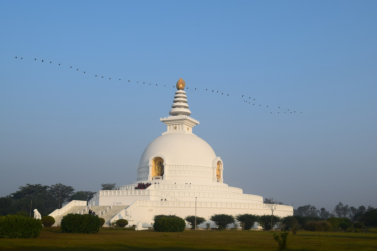 Stupa at Lumbini the Birth Place of Gautam Buddha in Nepal_PD