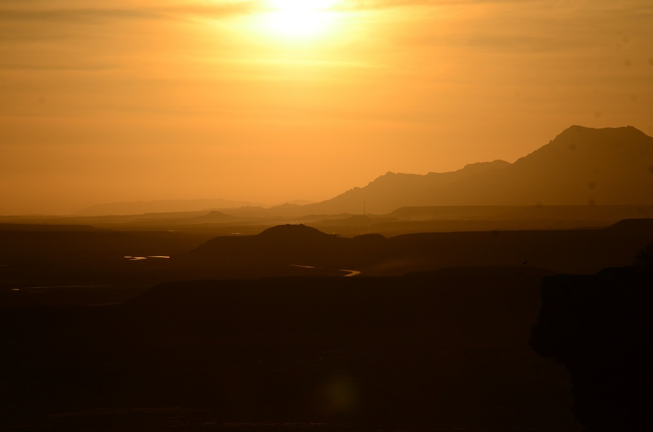 afghanistan scenic landscape sunset_PD