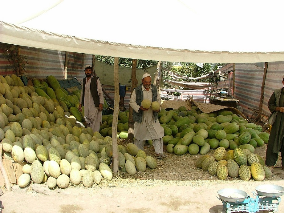 melons fruit market Kabul_Afghanistan_PD
