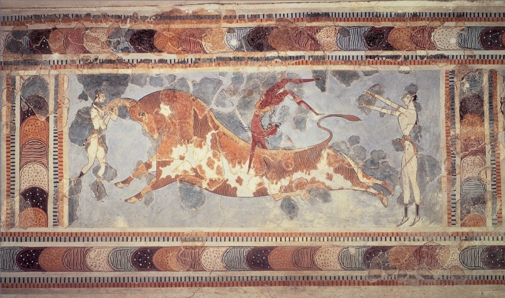Knossos bull a mysterious place in Greece