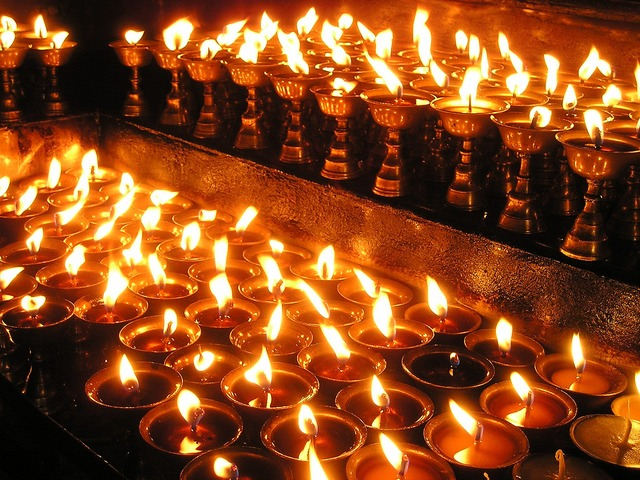 Nepal Buddhist Candles_PD