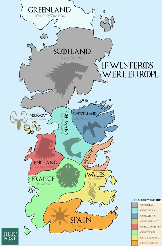 Beautiful game of thrones maps of westeros the known world the game of throne political world map gumiabroncs Gallery