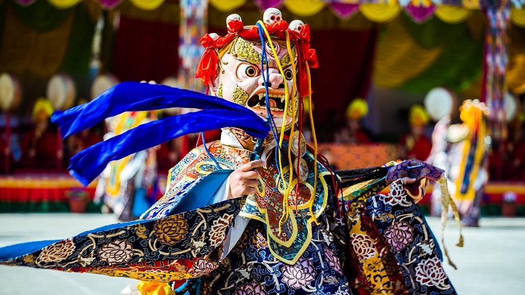 nepal religious buddha dance_PD