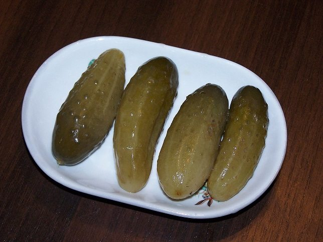 new yorkers pickle everything. Here you see a pickled cucumber