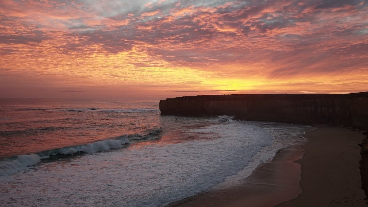 Sunset by Great Ocean Road_Australia_PD