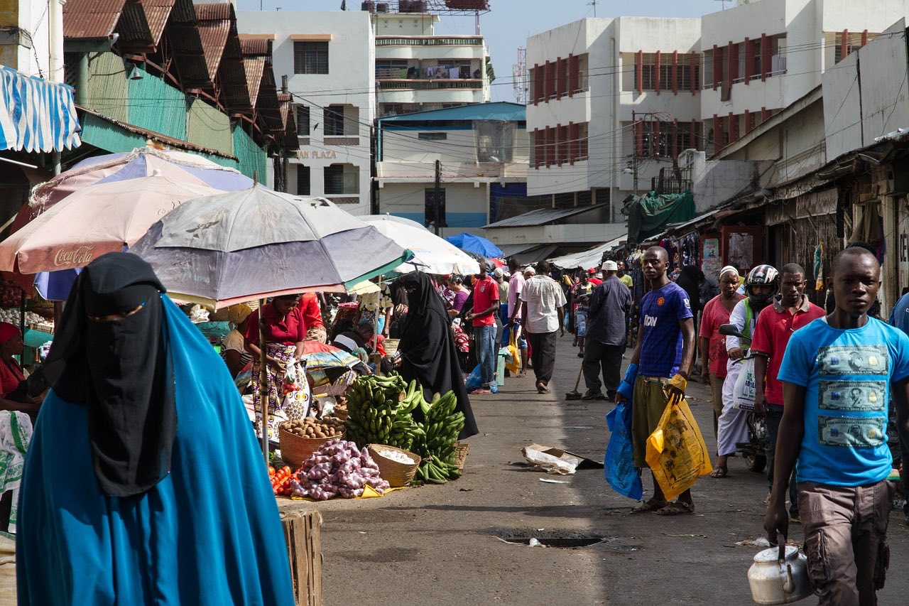 a local market in Mombasa Kenya Africa_PD