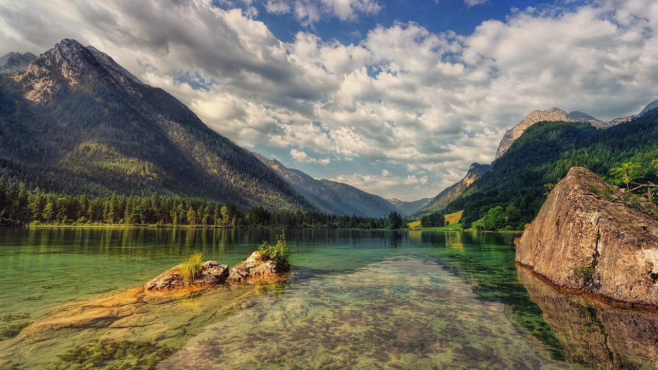 lake hintersee bavaria alps_germany_PD