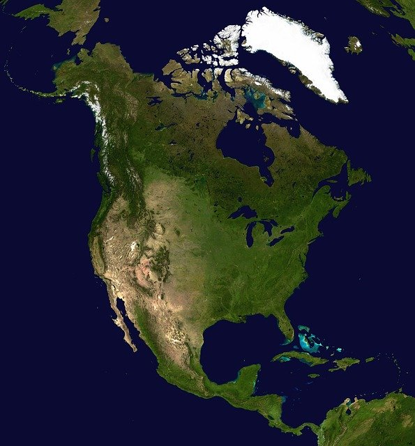 north america continent map_PD