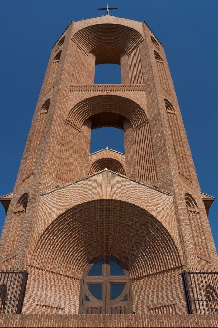 Bell tower_church in Madrid_Spain_PD