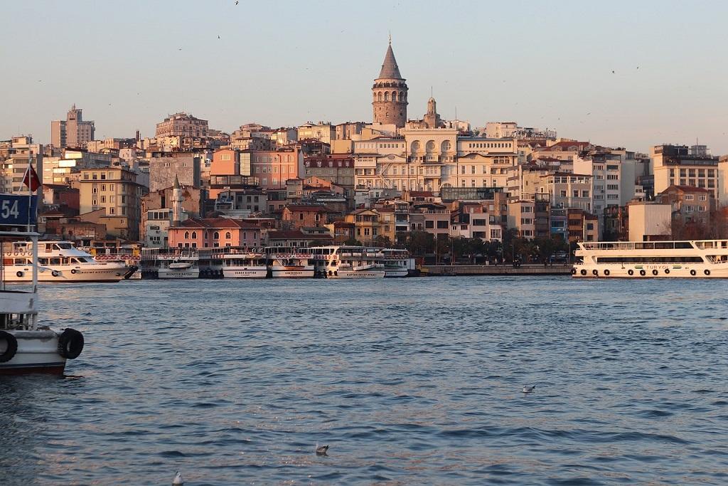 Galata_town_Marine Tower_Istanbul Turkey_PD