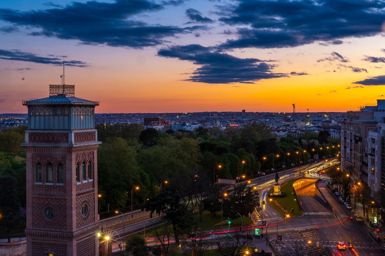 Sunset in Madrid_Spain_PD