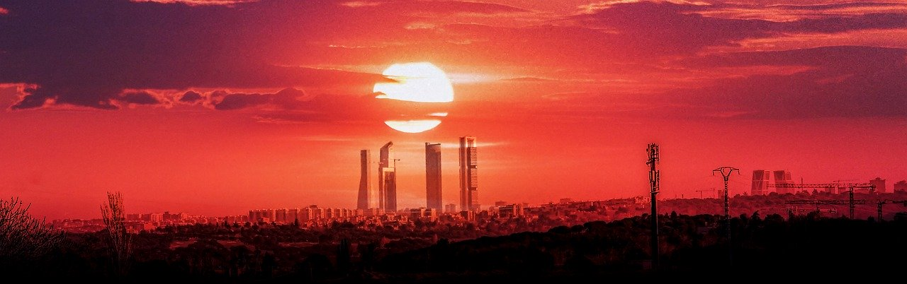 Sunset view of Madrid_Spain_PD