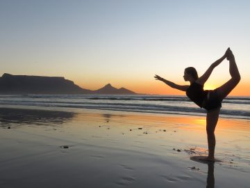 Yoga Girl in Cape Town Beach_South Africa_PD