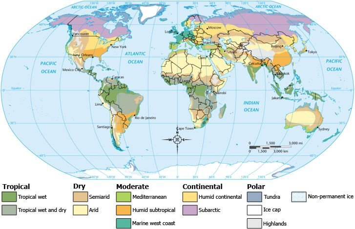 various climates in the world
