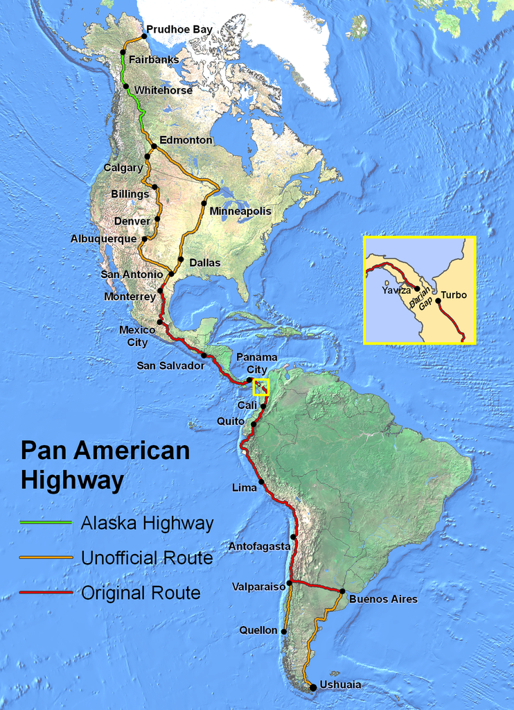 Map of Pan-American_Highway_PD