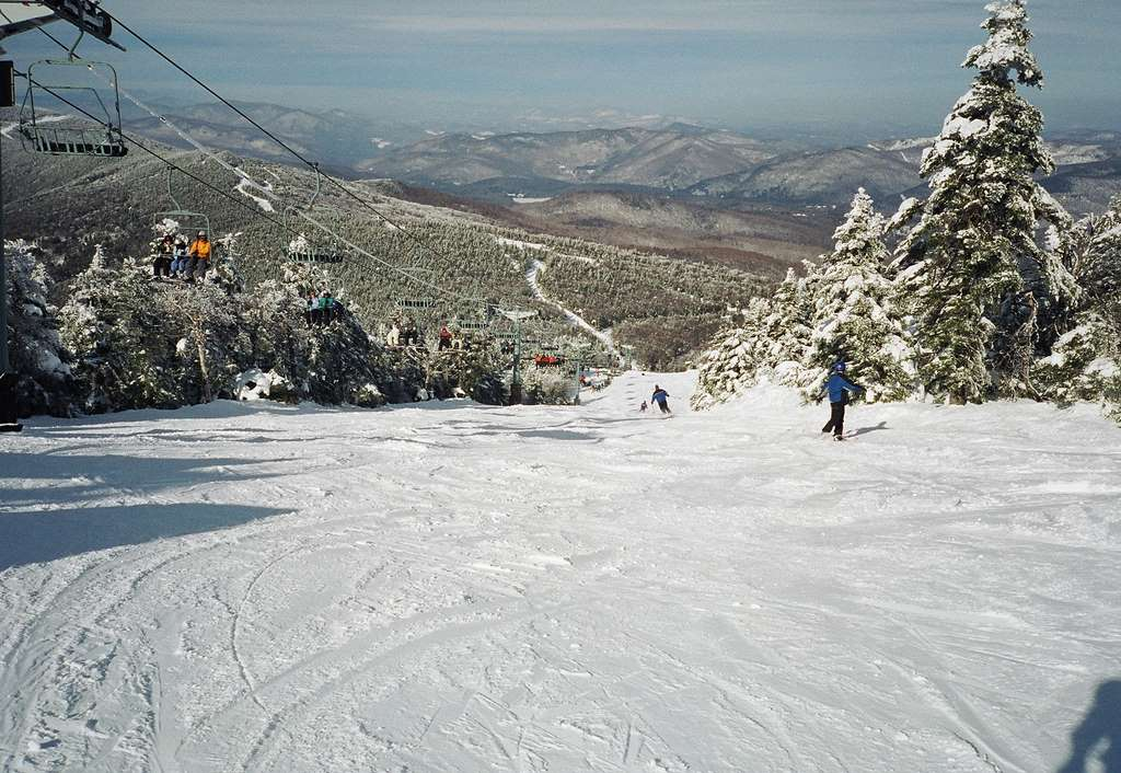 view-top-great-northern-run-mount-killington-sking -cc