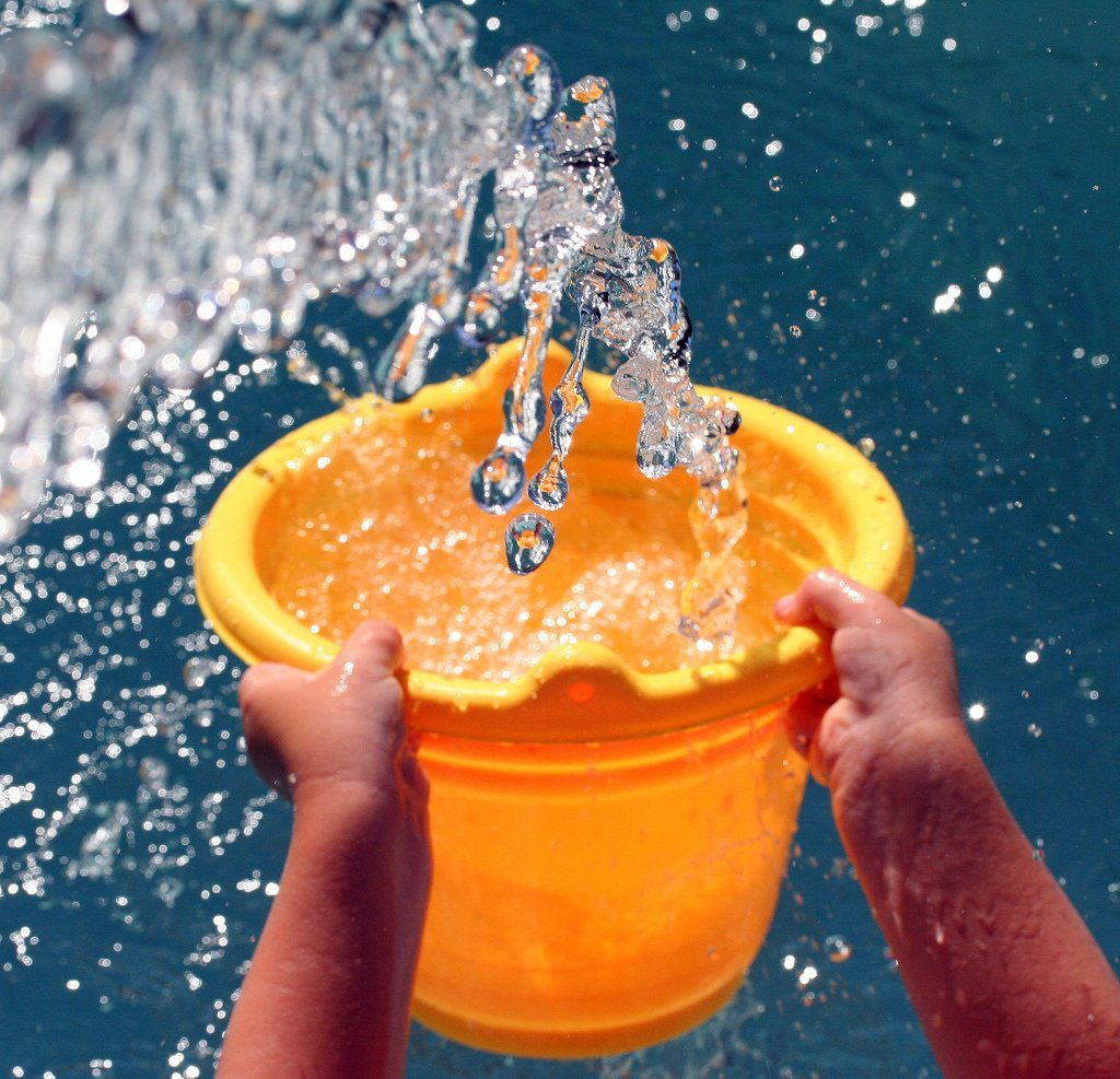water-bucket-throwing-throw-yellow-colorful