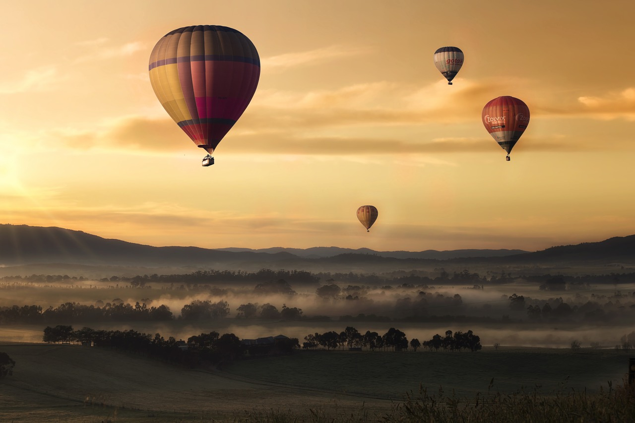 hot-air-balloon-yellow-sky-valley-fly-floating-festival