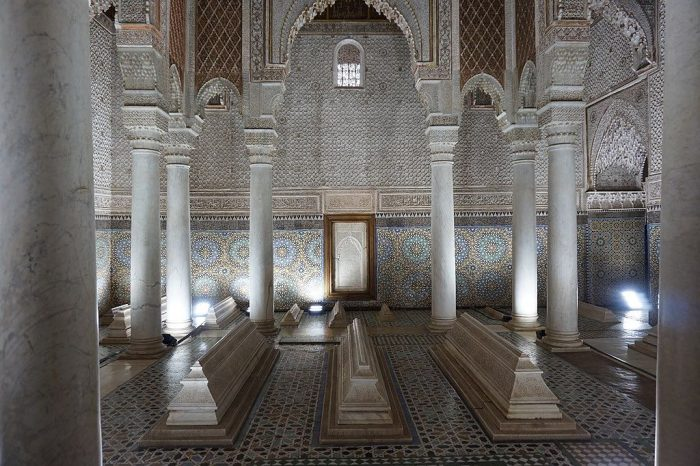 Chamber of the Twelve Columns_Saadiens Tombs_Marrakech_Morroco_CCBYSA2.0_Wiki