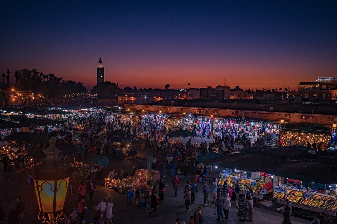 Jemaa El-Fnaa_Marrakech Marketplace_Morocco_PD