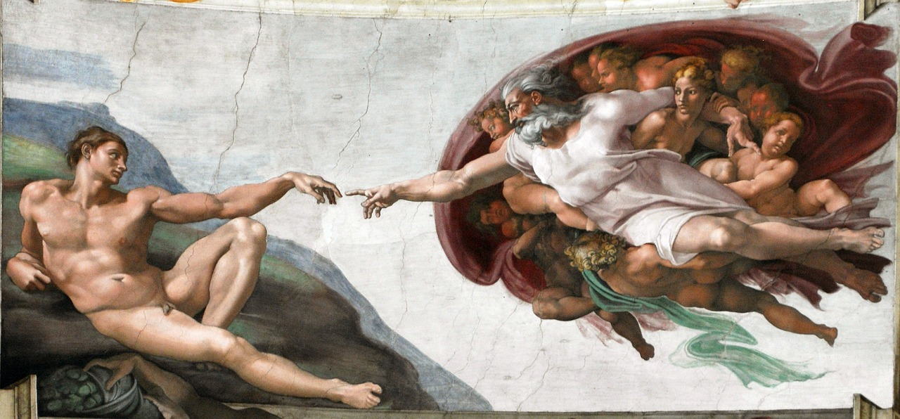 The Sistine Chapel_Creation Of Man God Finger by Michelangelo_PD
