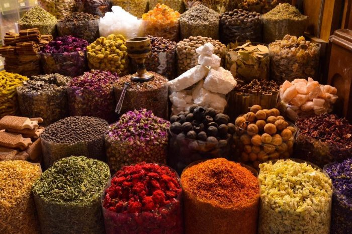 Spices in Souk Bazaar_PD
