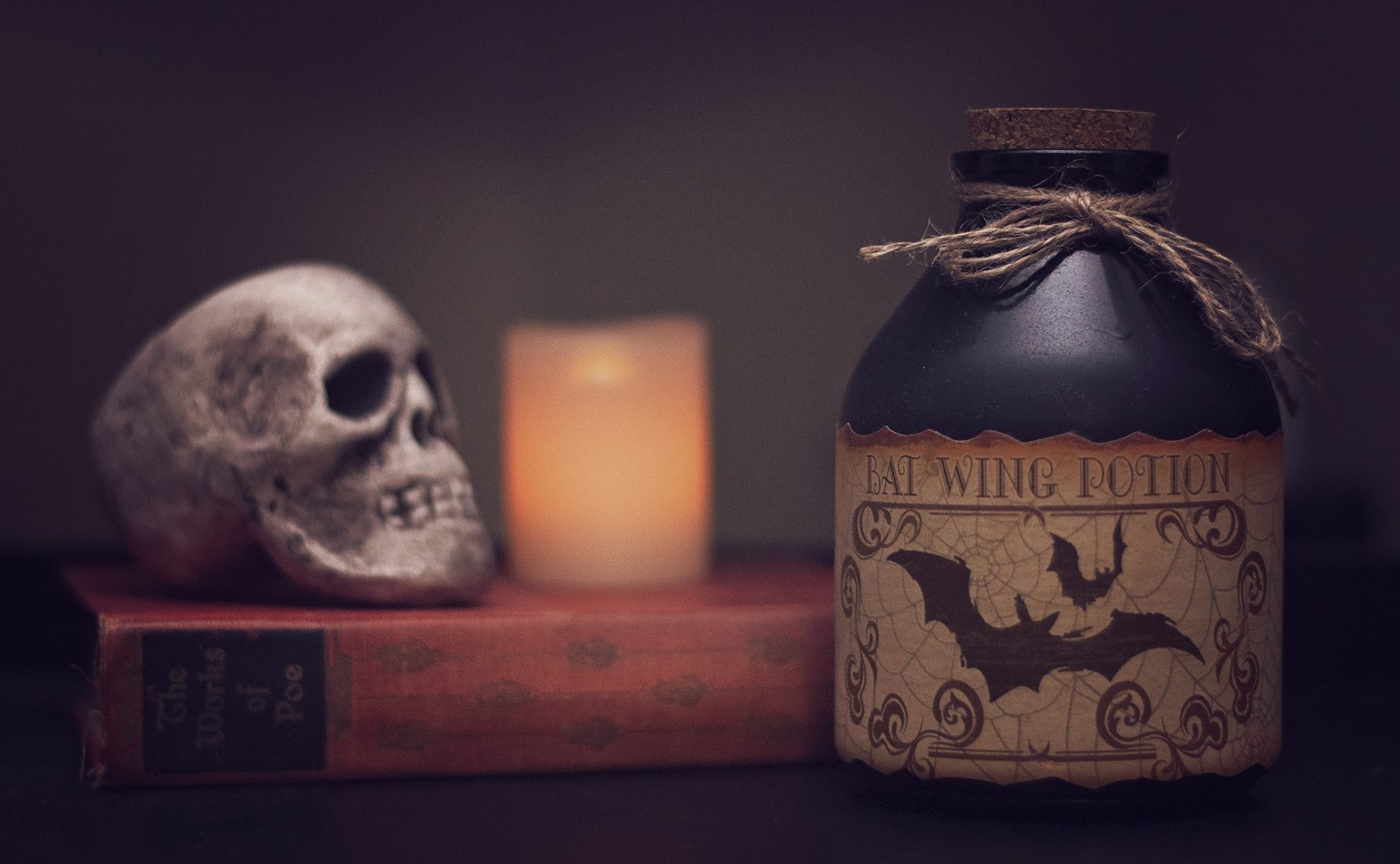 History and Origin of Halloween. Skull potion