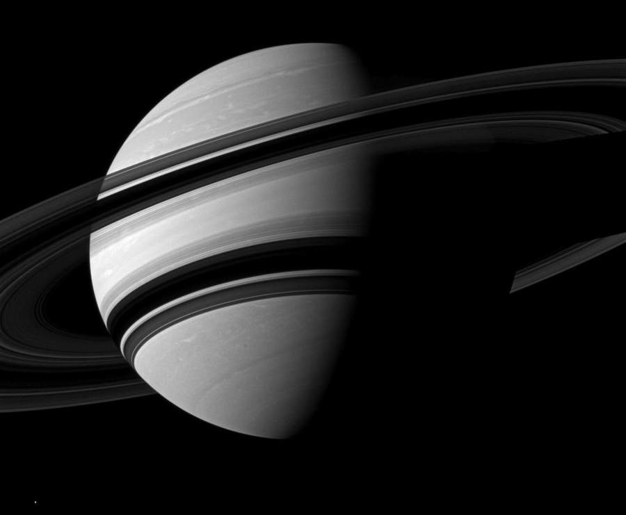 Saturn is Flattened at the Poles