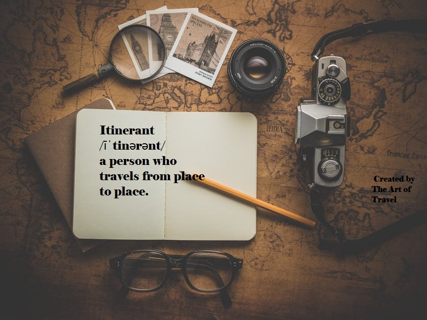 Itinerant_Synonymous Words for Travel Lovers