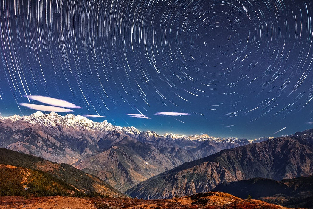 Travel bucket list of all bucket lists. Starry_night_Langtang_National_Park