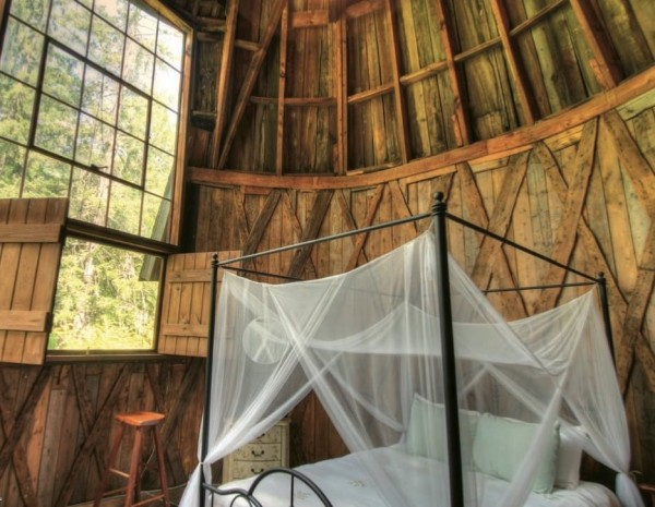 Best Glamping Experiences for Couples. Cottage with Wooden Turret in The Berkshires, Massachusetts. Glamping Hub.