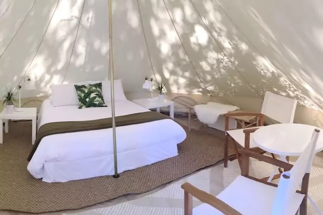 Best Glamping Experiences for Couples. Tents for Glamping Getaway in Santa Rosa, Florida. Glamping Hub.