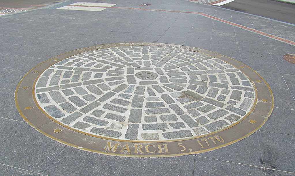 Boston Massacre Site march 5, 1770 on the freedom trail