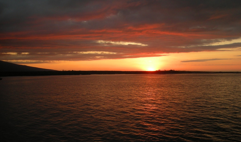 Galapagos Island sunset. As much as nature and adventure, Galapagos is also a romantic destination