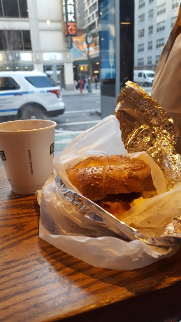 Breakfast of champions. A First Time European Visitor Guide to New York City.