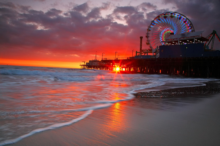 Santa Monica Sunset Los Angeles California