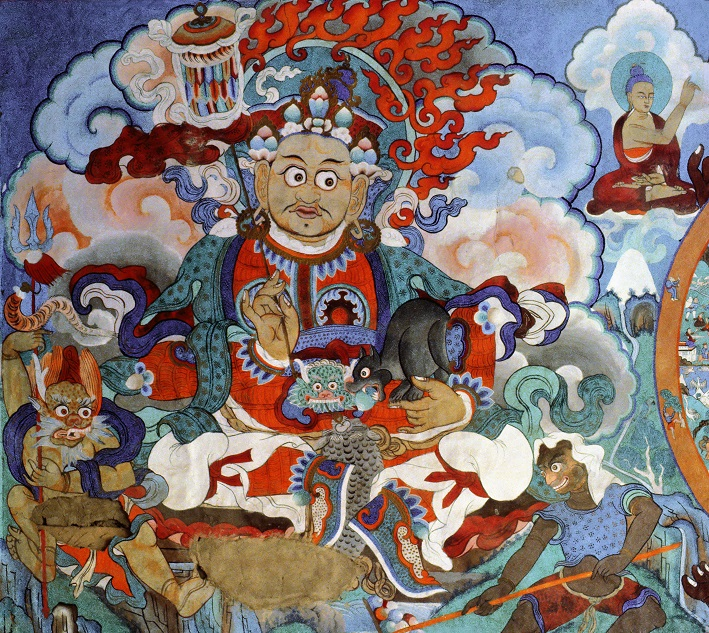 Mural painting_monastery stays_Hemis_Leh_Ladakh_India