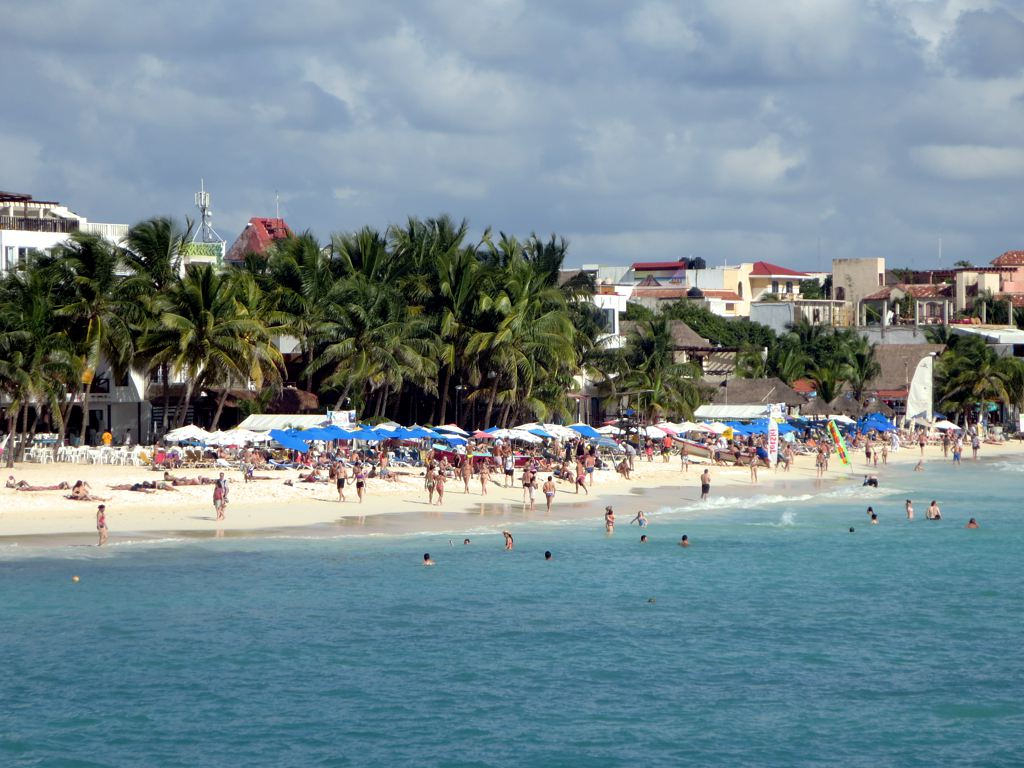 Playa del Carmen Mexico. Playa beach