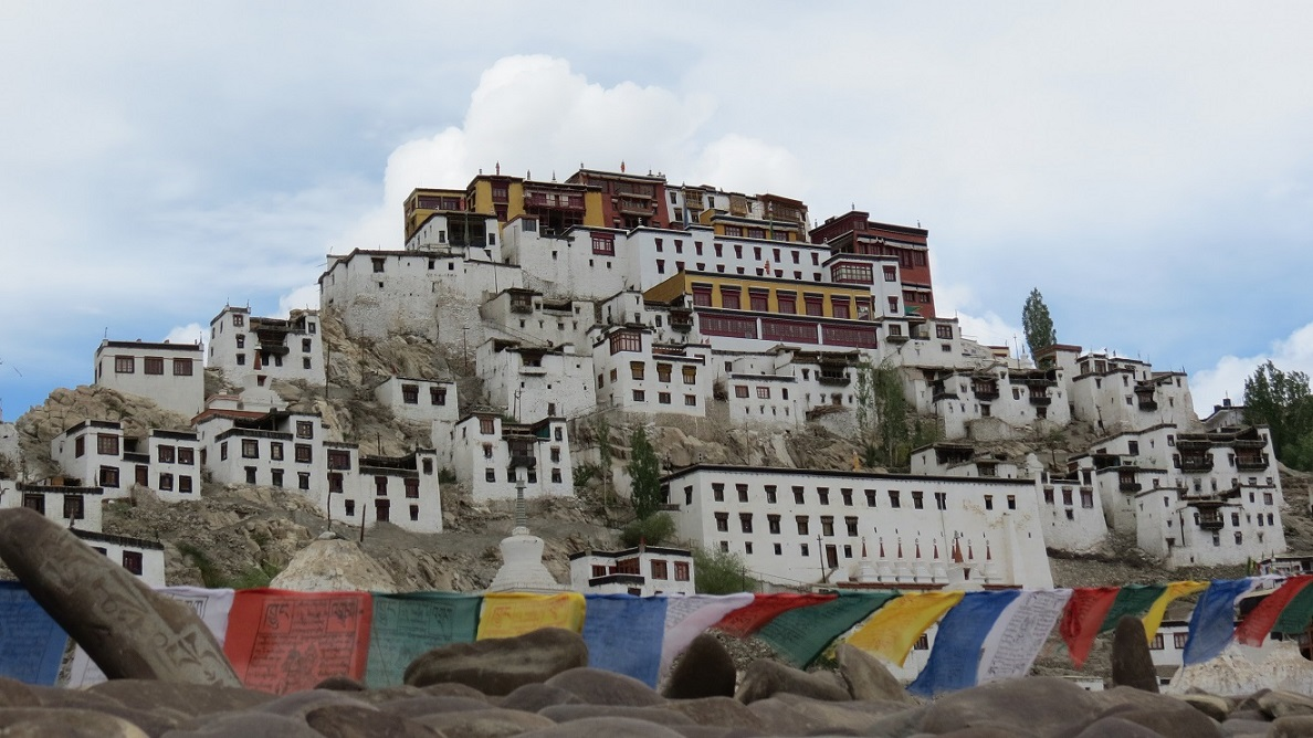 Thiksey_Gompa_Pryaers_flags_in_Leh_India