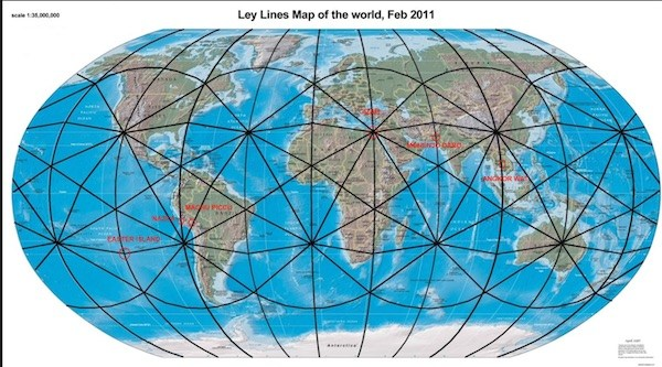 ley lines of earth