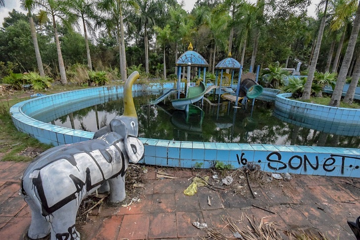 Pool Adventure Travel in Post-apocalyptic Vietnam