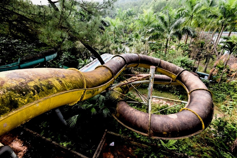 Abandoned water park Adventure Travel in Post-apocalyptic Vietnam