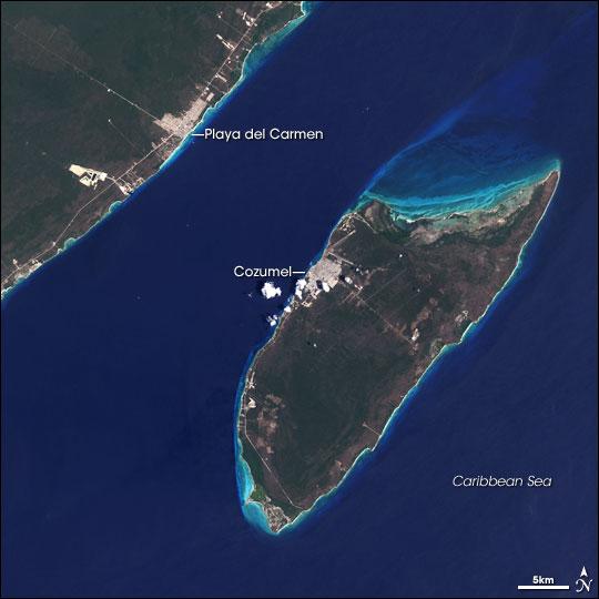 playa to cozumel map