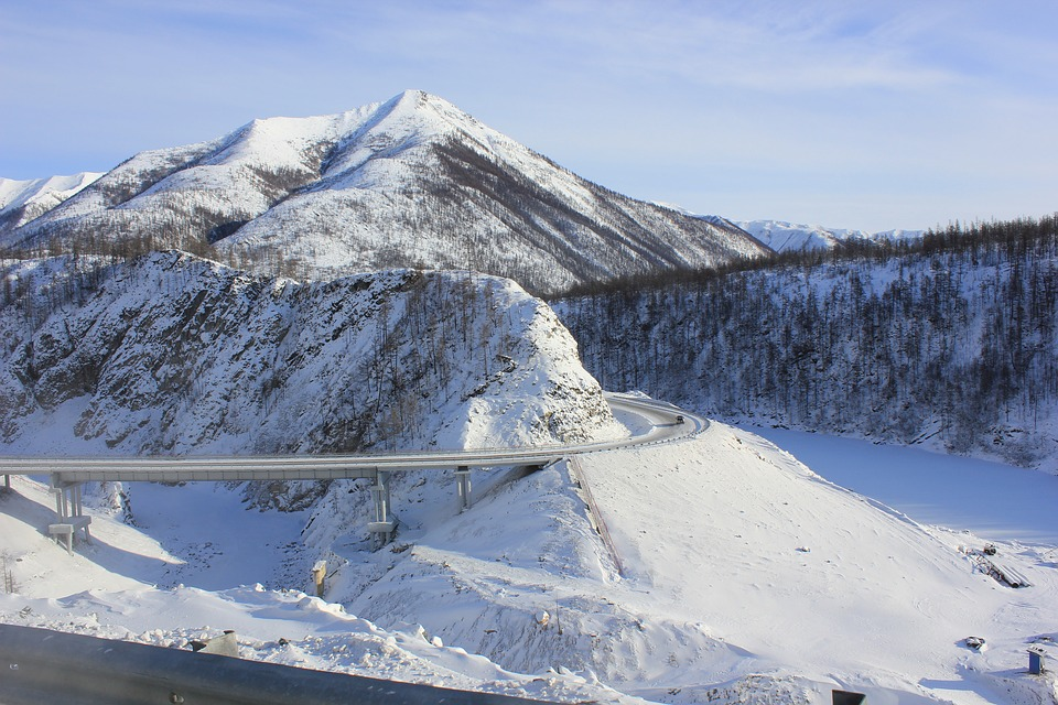 trans siberian highway during winter